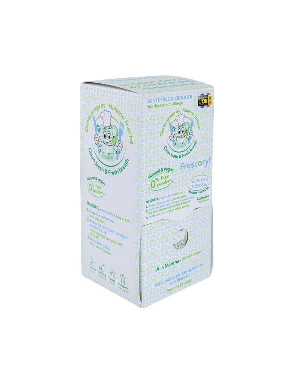 Dentífrico masticable: 150 comprimidos
