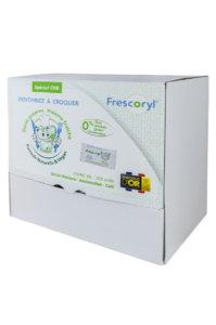 Frescoryl es un dentifrico masticable hecho de ingredientes naturales