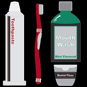 El cepillo, el enguaje y el hilo dental son importantes para la salud de tus dientes