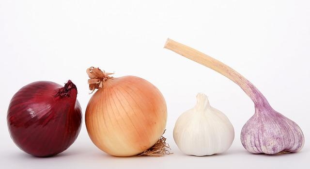 La cebolla y el ajo pueden producir mal aliento