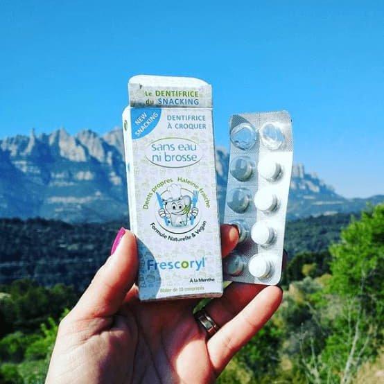 Frescoryl es un cómodo dentífrico para llevar a la montaña